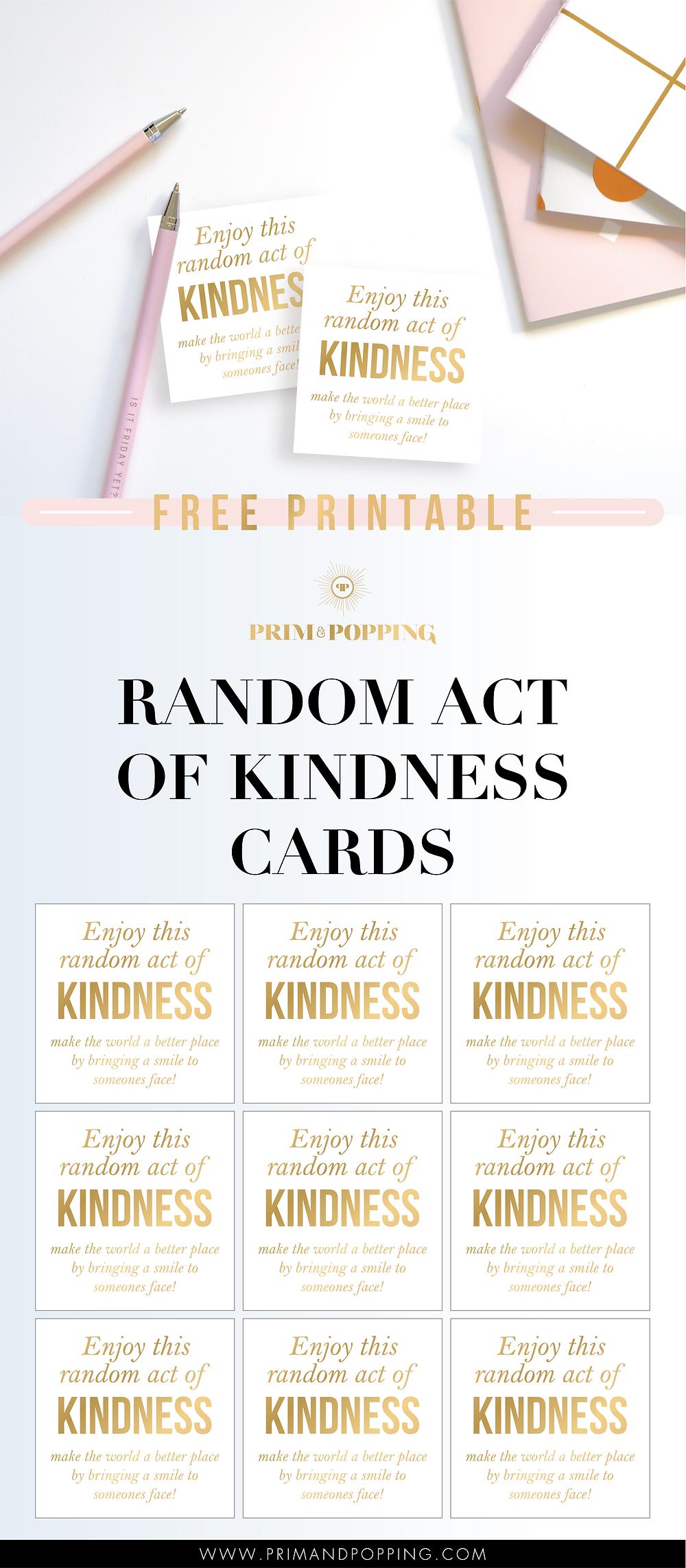 Random Act of Kindness Free Printables