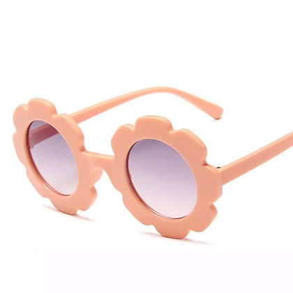 Peach Flower Sunglasses for Kids