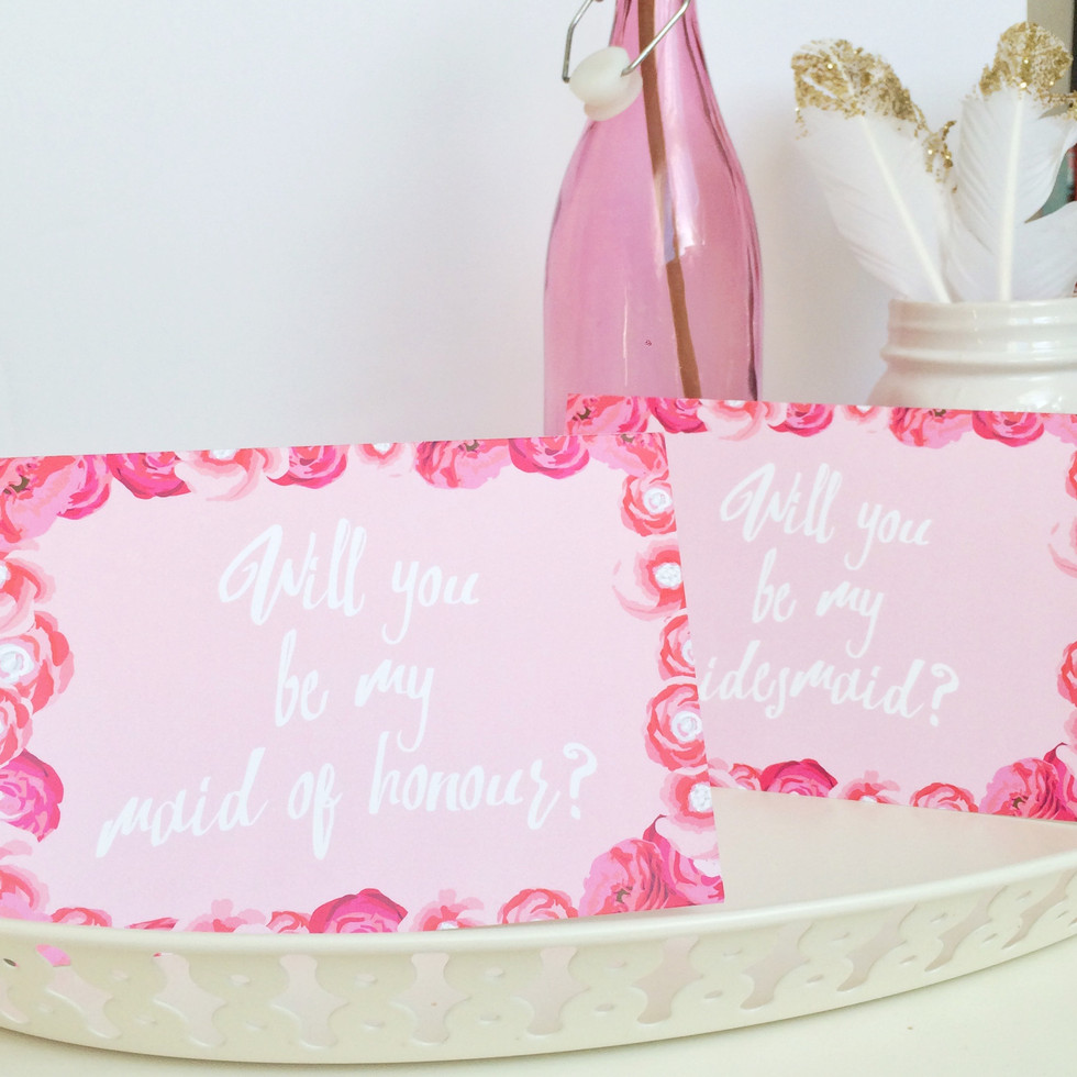 Will you be my Maid of Honour? Cards | Real Parties