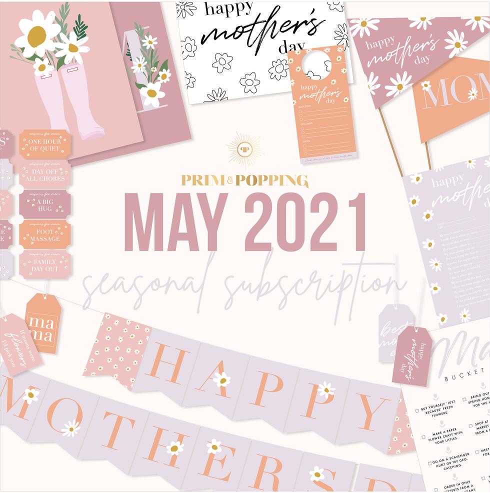 May 2021 Seasonal Printable Subscription