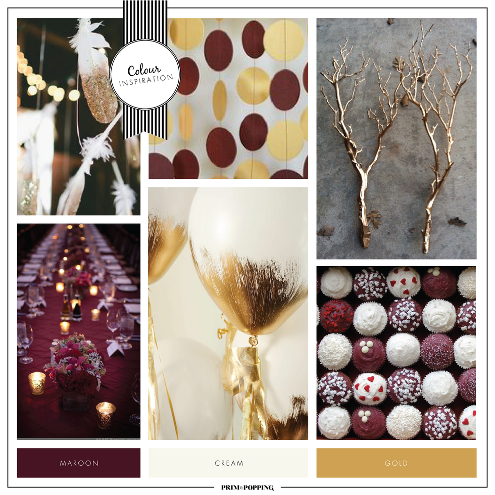 Gold & Maroon | Colour Inspiration