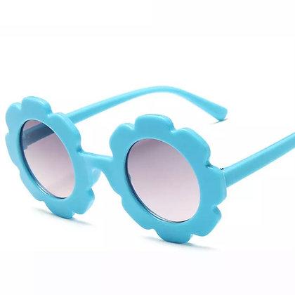 Blue Flower Sunglasses for Kids