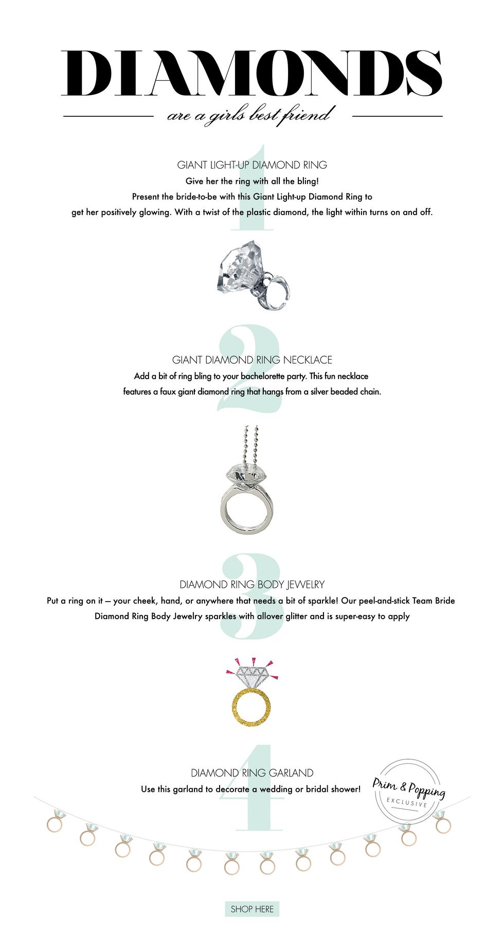 Diamonds are a girls best friend | Wedding Trend