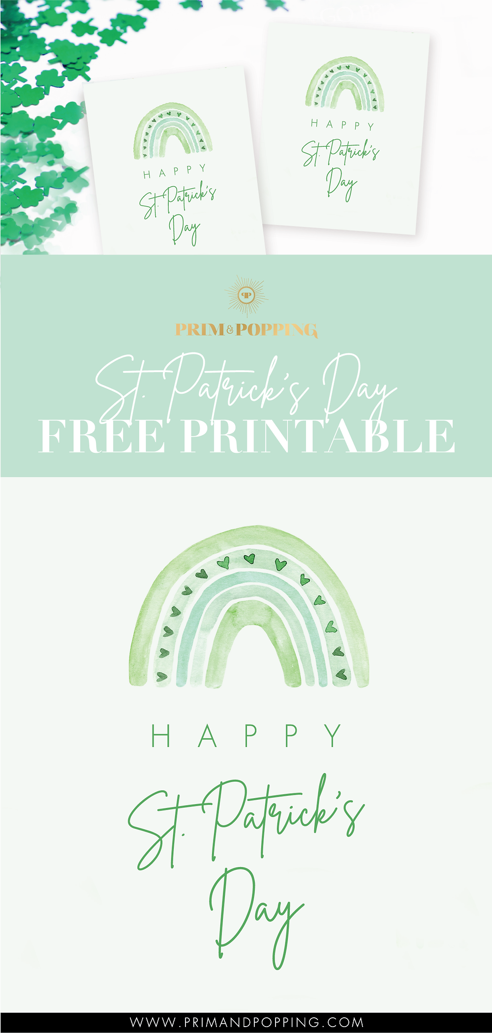 free St. Patricks Day printable art print