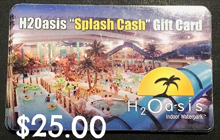 "$25.00 ""Splash"" Gift Card"