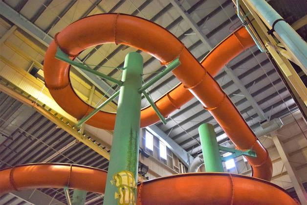 Open-Flume Orange Slide