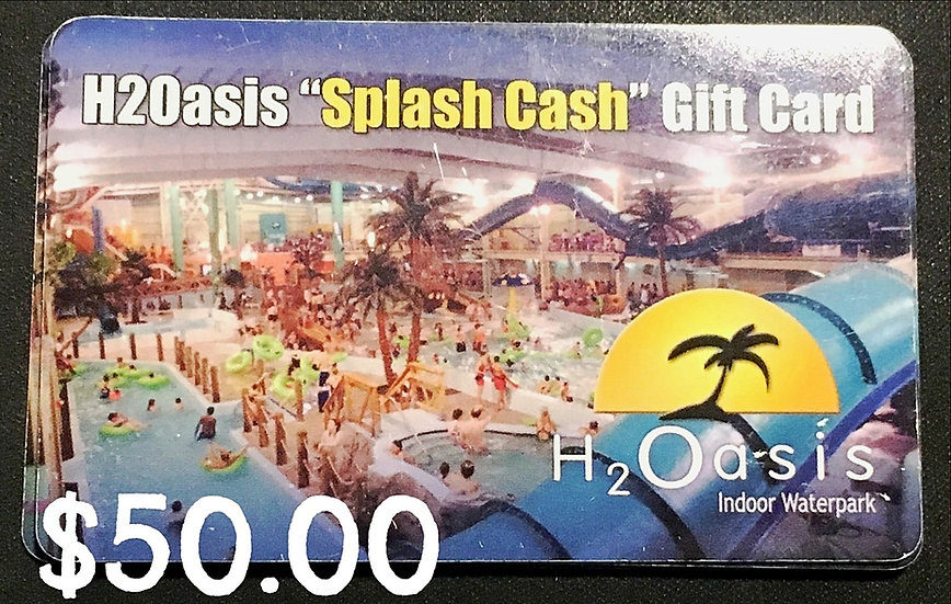 "$50.00 ""Splash"" Gift Card"