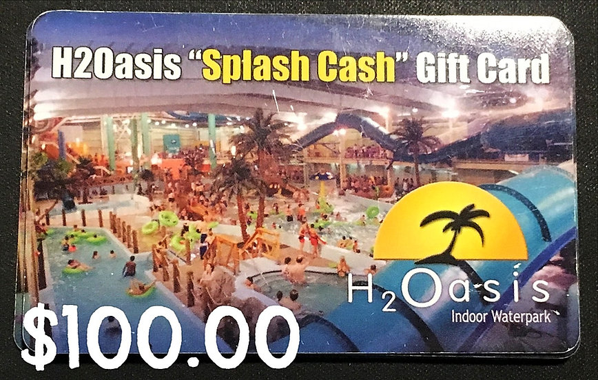 "$100.00 ""Splash"" Gift Card"