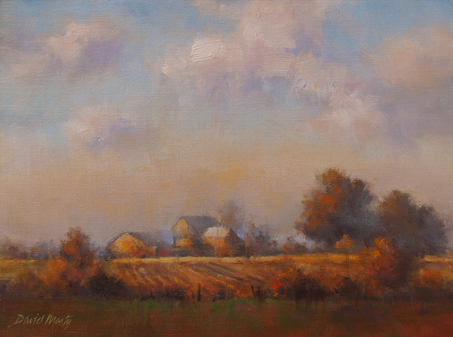 Marty - Distant Farm_12x16