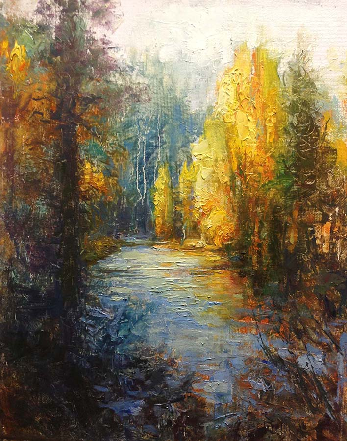 Krogle - Coeur d'Alene River Fall  14x11