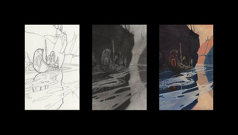 Line Drawing Value Study and Color 978.j