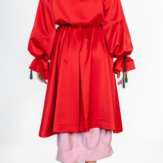 Theatrical red silk robe