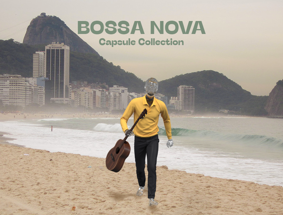 A project honouring the fashion of 50s Brazil and musicians like Joao Gilberto and Jorge Ben. Under the creative direction of Zach Fuller and the 3D modeling of Mar Guixa Studio