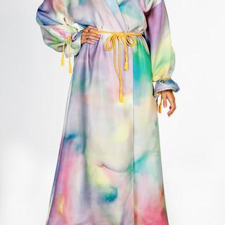 Fantasy hand painted silk robe