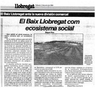 El Baix Llobregat com a ecosistema social
