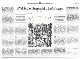 El debat metropolità a Catalunya