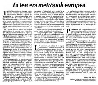 La tercera metrópoli europea