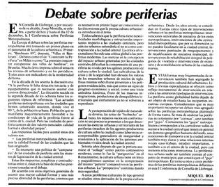 Debate sobre periferias