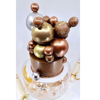 Metallic Sphere Smash Cake