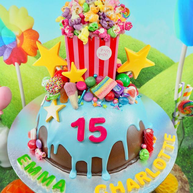 Movies Themed Chocolate Piñata Smash Cak