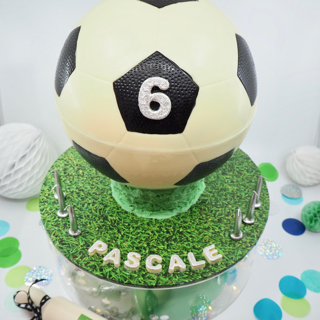 Soccer Ball Piñata Smash Cake