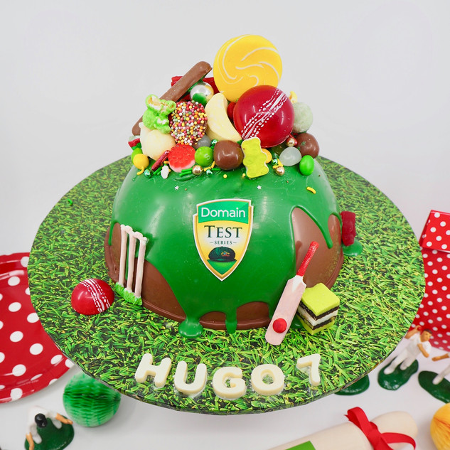 Cricket Chocolate Piñata Smash Cake