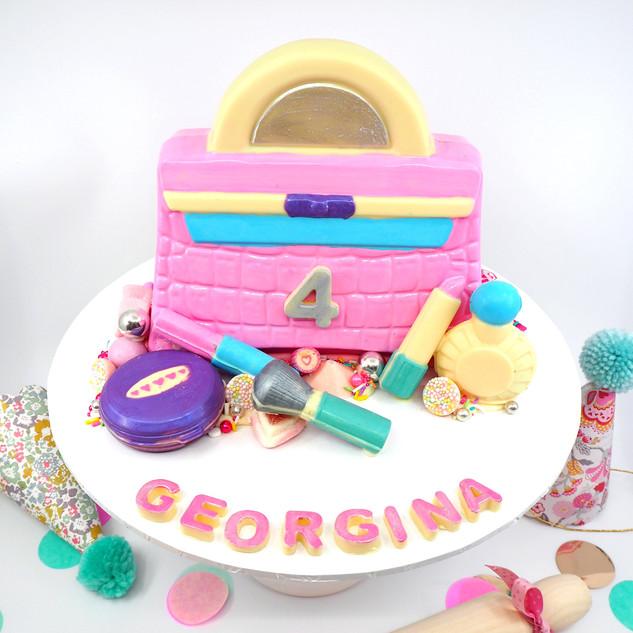 Handbag & Makeup Piñata Smash Cake