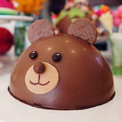 Teddy Bear Chocolate Piñata Smash Cake