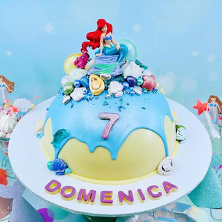 Mermaid Chocolate Piñata Smash Cake