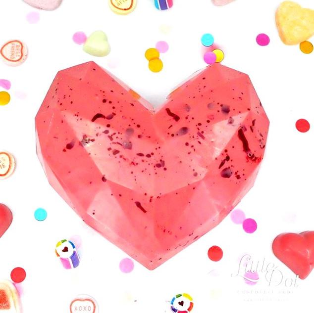 Geometric Heart Smash Cake