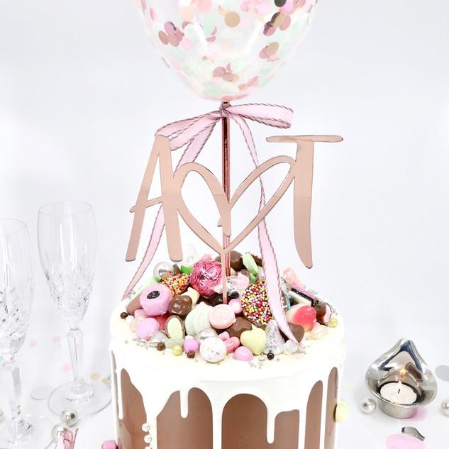 Wedding Pinata Smash Cake