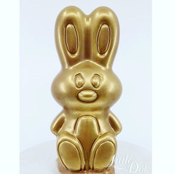 Golden Bunny Pinata Smash Cake