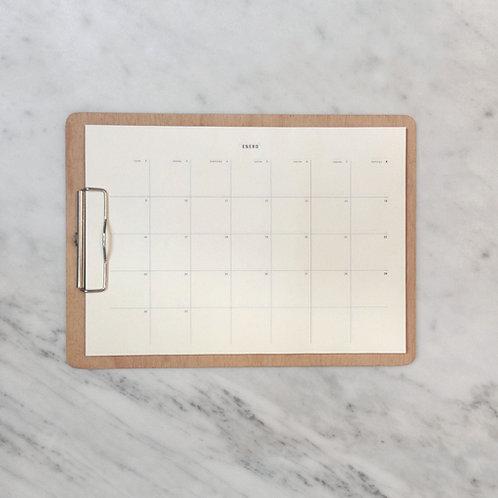 tablita A4 + calendario