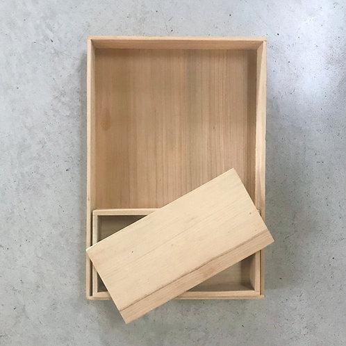 set cajas x 2 con tapa