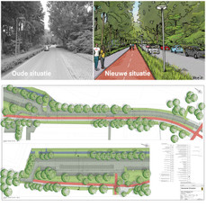 Parkweg becomes safer due to a new layout