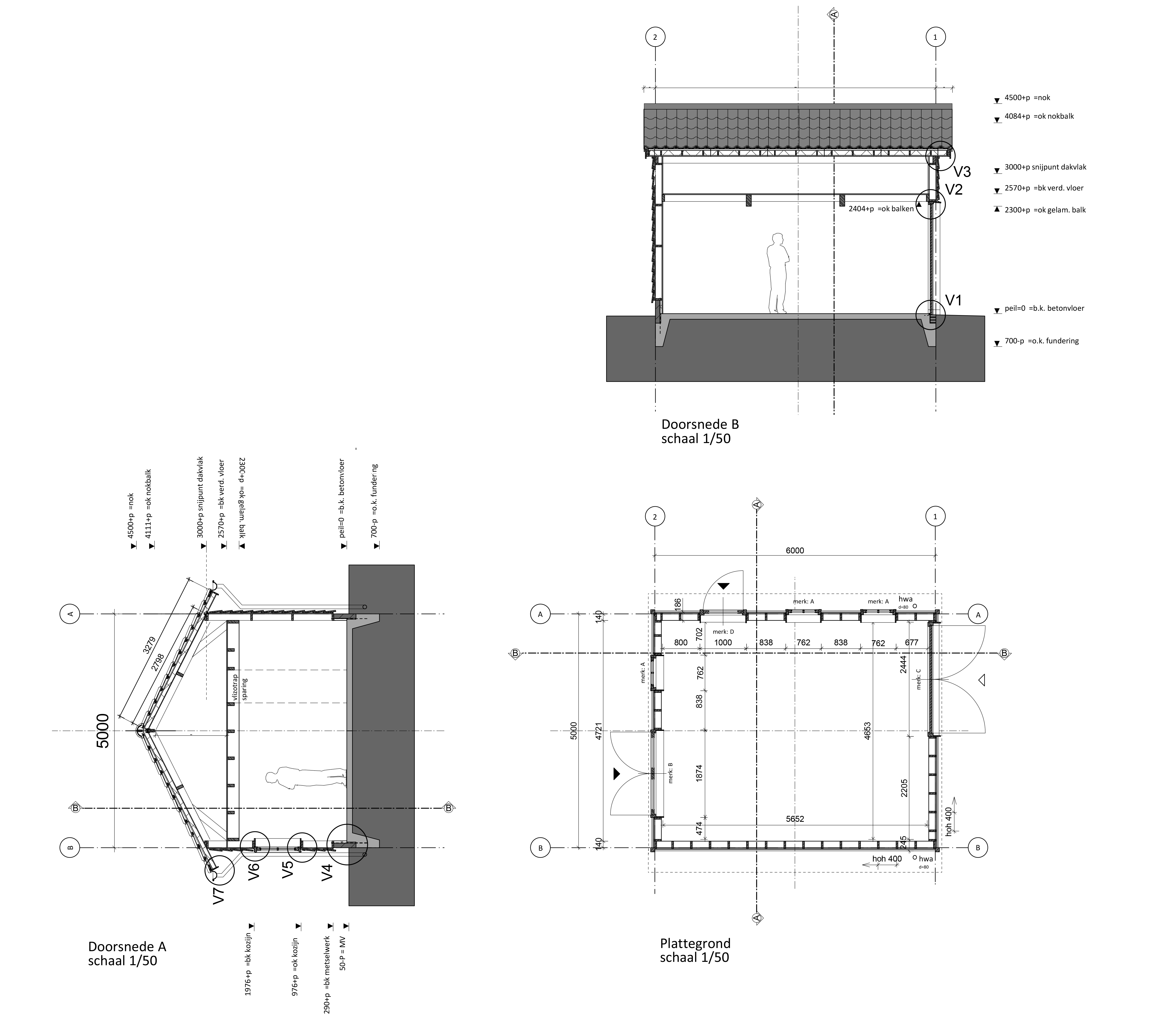 Floorplan and sections