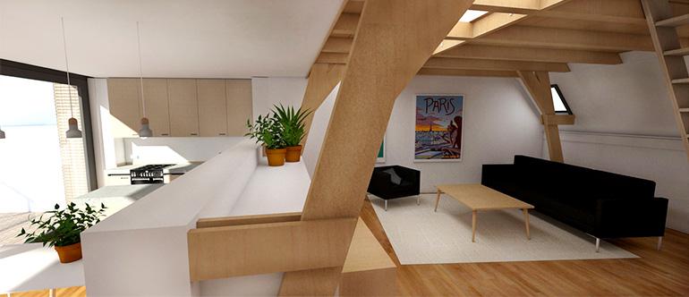 appartement met skybox 770