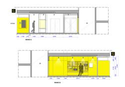 Het Gele Gebouw sections