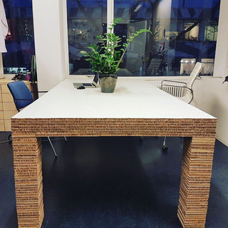 Handmade Re-board desk
