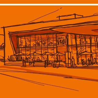 Sketch proposal gas station