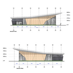 Elevations east and west