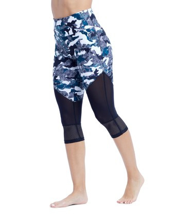760c9f15eaf19 Breathable mesh panels enhance the lightweight comfort of these  stretch-kissed capri leggings that bring bold style to your workout-ready  wardrobe.