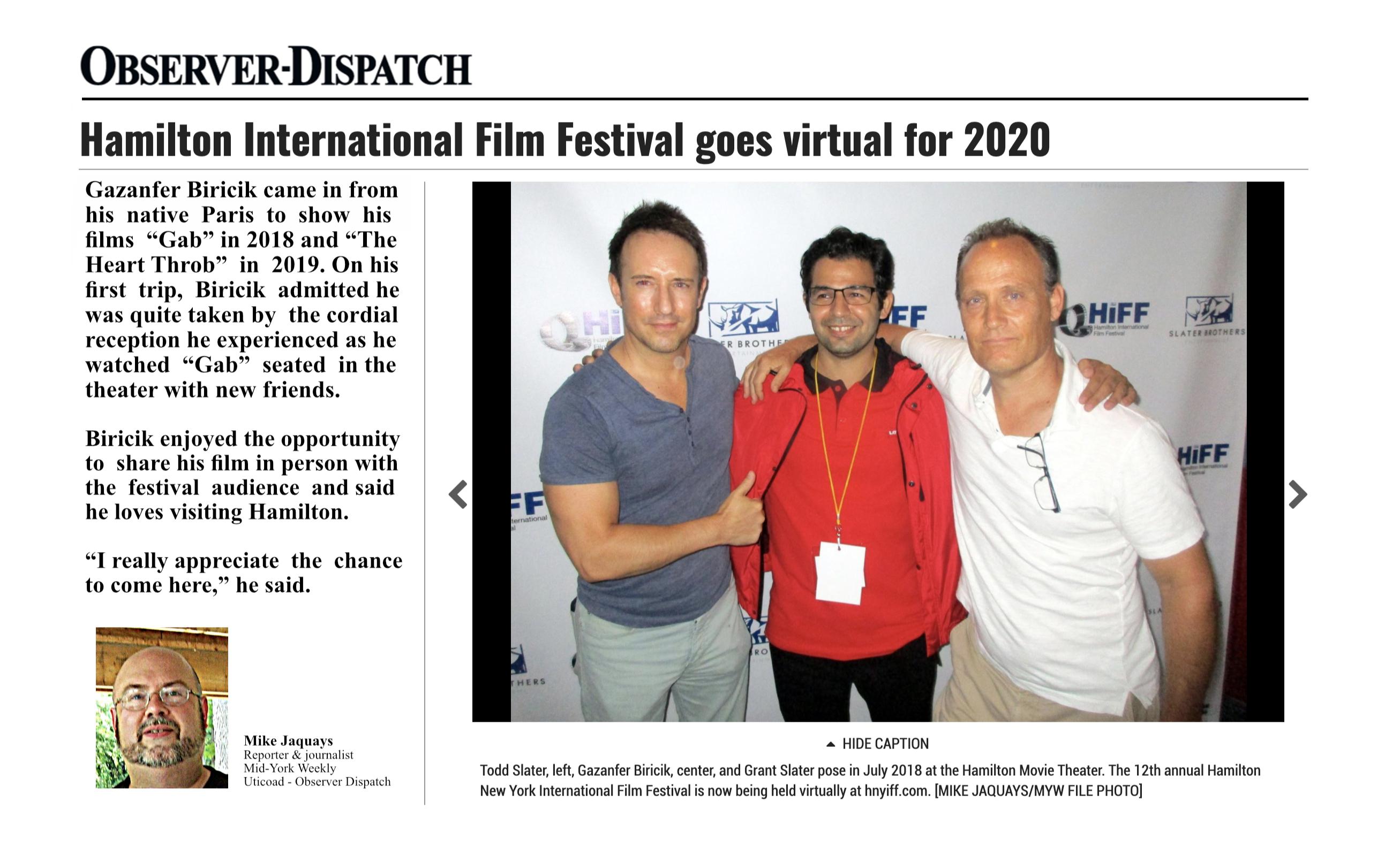 Observer-Dispatch talks about Gazanfer BIRICIK