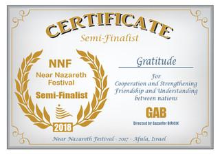GAB semi finalist à Near Nazareth Film Festival en Israël !