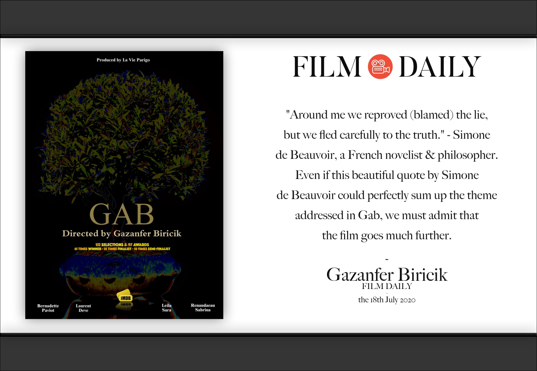 "Interview Gazanfer Biricik ""film daily"" !"