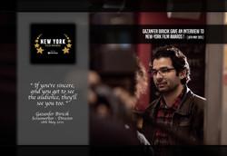 Gazanfer Biricik honored to be on spotlight at New-York Film Awards !