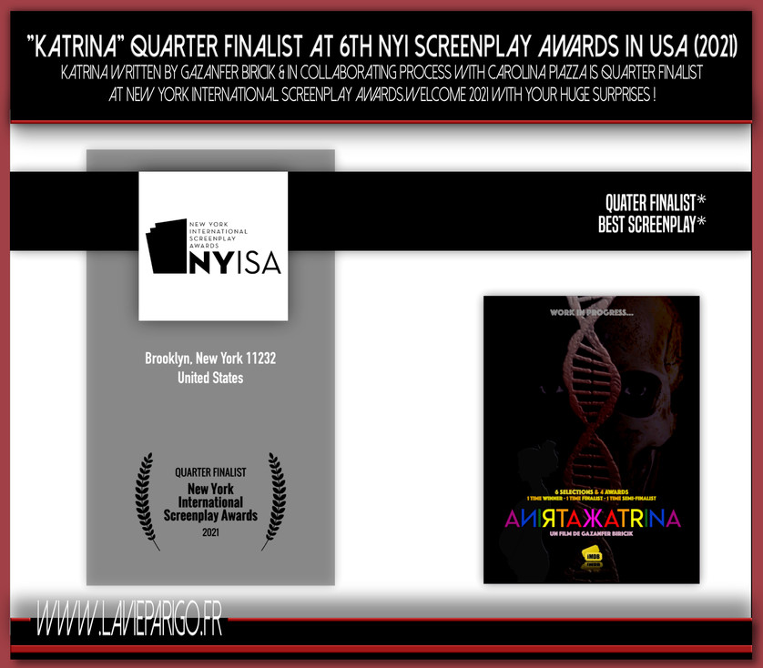 KATRINA Quarter finalist at New York !