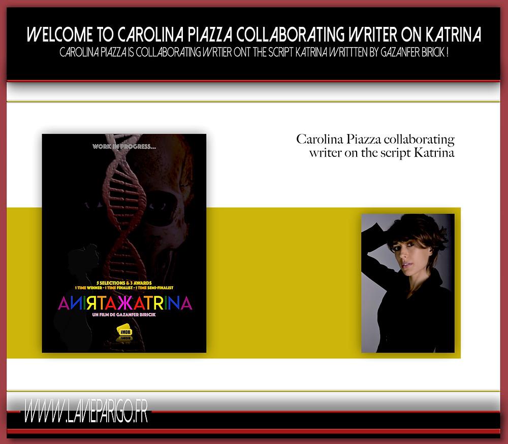 Carolina Pizza collaborating on script KATRINA with Gazanfer Biricik