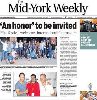 GAB à la une du Mid-York Weekly à New York
