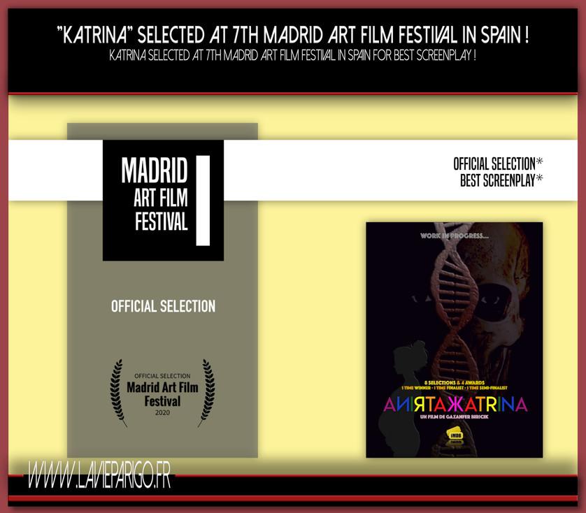 KATRINA selected at 7th Madrid Art Film Festival !